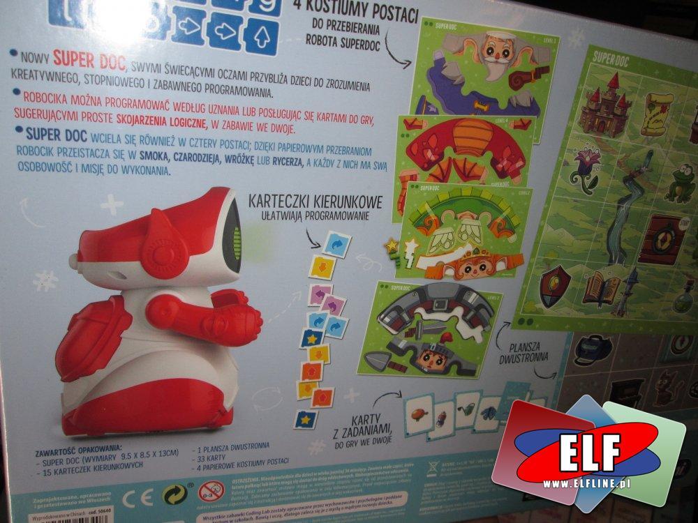 Super Doc, Mówiący robot edukacyjny!, zabawka edukacyjna, gra edukacyjna, zabawki i gry edukacyjne z robotem