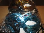 Maska karnawałowa, maski karnawałowe, cekinowe i inne