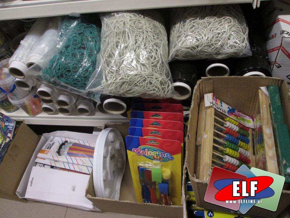 Gumki recepturki, Folia stretch, Liczydła, Pędzle i akcesoria do malowania i inne akcesoria