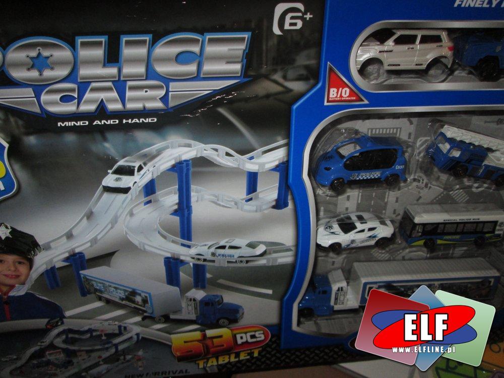 Police Car, Samochody policyjne i tory samochodowe, zabawki