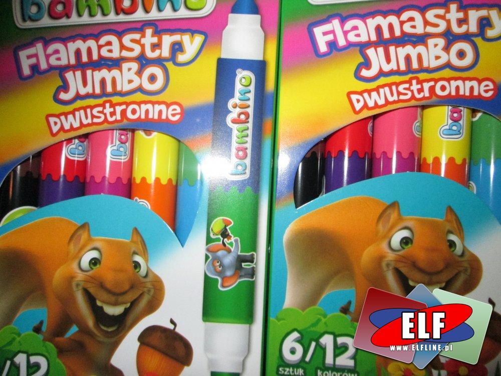 Bambino, Flamastry Jumbo Dwustronne, flamaster, mazak, mazaki